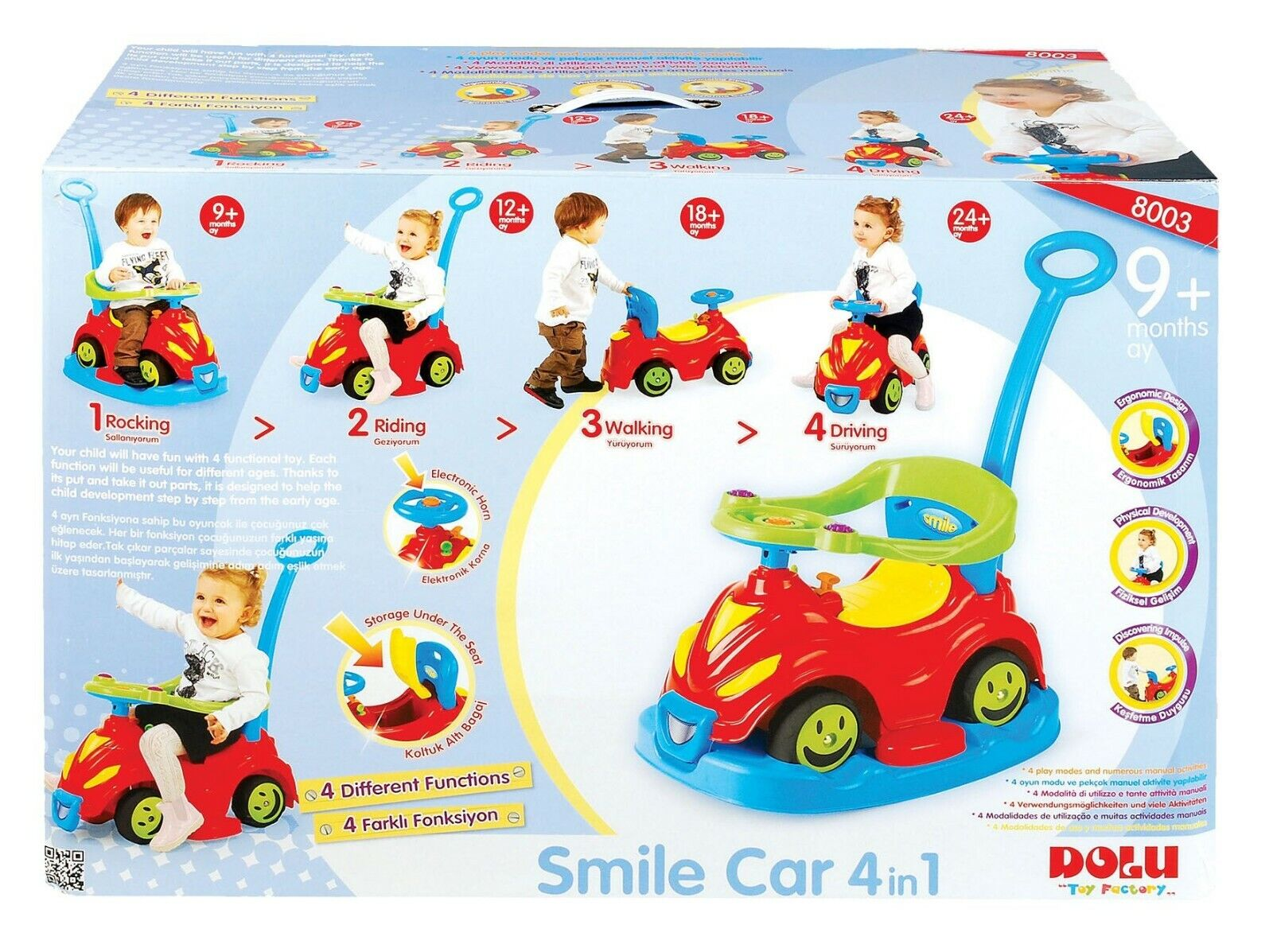 Dolu 4 In 1 Smile Car [Ages 12+ Months] BRAND NEW
