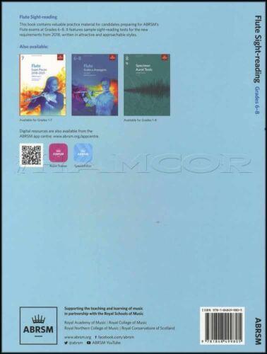 Flute Sight Reading from 2018 ABRSM Grades 6-8 Sheet Music Book