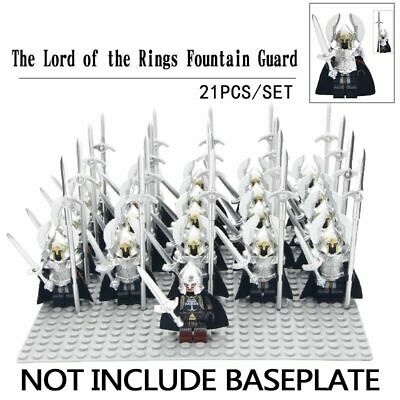 21PCS LOT Lord of the Rings Medieval minifigure costum army Mini Fig Knights