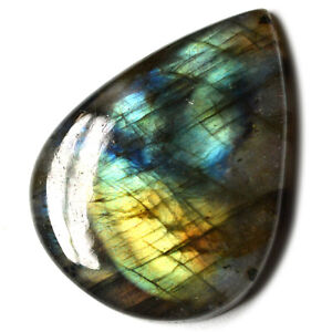 Cts-66-90-Natural-Multi-Shade-Labradorite-Cabochon-Pear-Cab-Loose-Gemstone