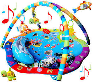 Play-Mat-Activity-Gym-Removable-Dangle-Toys-Musical-Ocean-Sealife-Baby-Toy