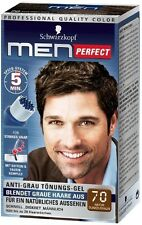 Schwarzkopf Men Perfect - For Men - Gentle Hair Color Gel - Dark Brown 70