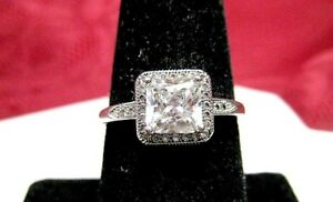 Image Is Loading IBB CN 925 STERLING SILVER CZ PRINCESS CUT