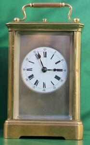 ANTIQUE-FRENCH-8-DAY-REPEATER-WITH-SILVERED-MASK-DIAL-CARRIAGE-CLOCK