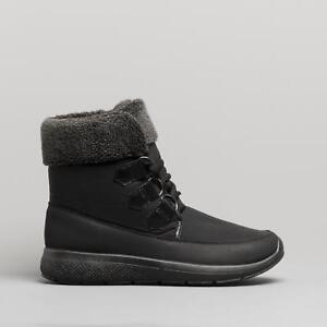 Dr-Keller-GHILLIE-Ladies-Womens-Warm-Winter-Faux-Fur-Lace-Up-Ankle-Boots-Black