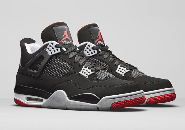 designer fashion 83785 b3dd1 2019 Nike Air Jordan 4 Retro OG SZ 14 Black Fire Red Cement Grey BRED  308497-060