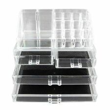 Vencer King Size Acrylic Jewelry Cosmetic Makeup Organizer 1 Top 2