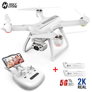 Holy Stone HS700D GPS Drone with Camera 2K Brushless RC Quadcopter + 2 Batteries