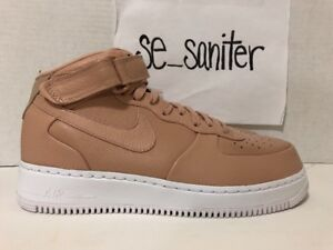 wholesale dealer 4224a a37aa NIKE NIKELAB AIR FORCE 1 MID VACHETTA TAN LEATHER WHITE 819677 200 ...