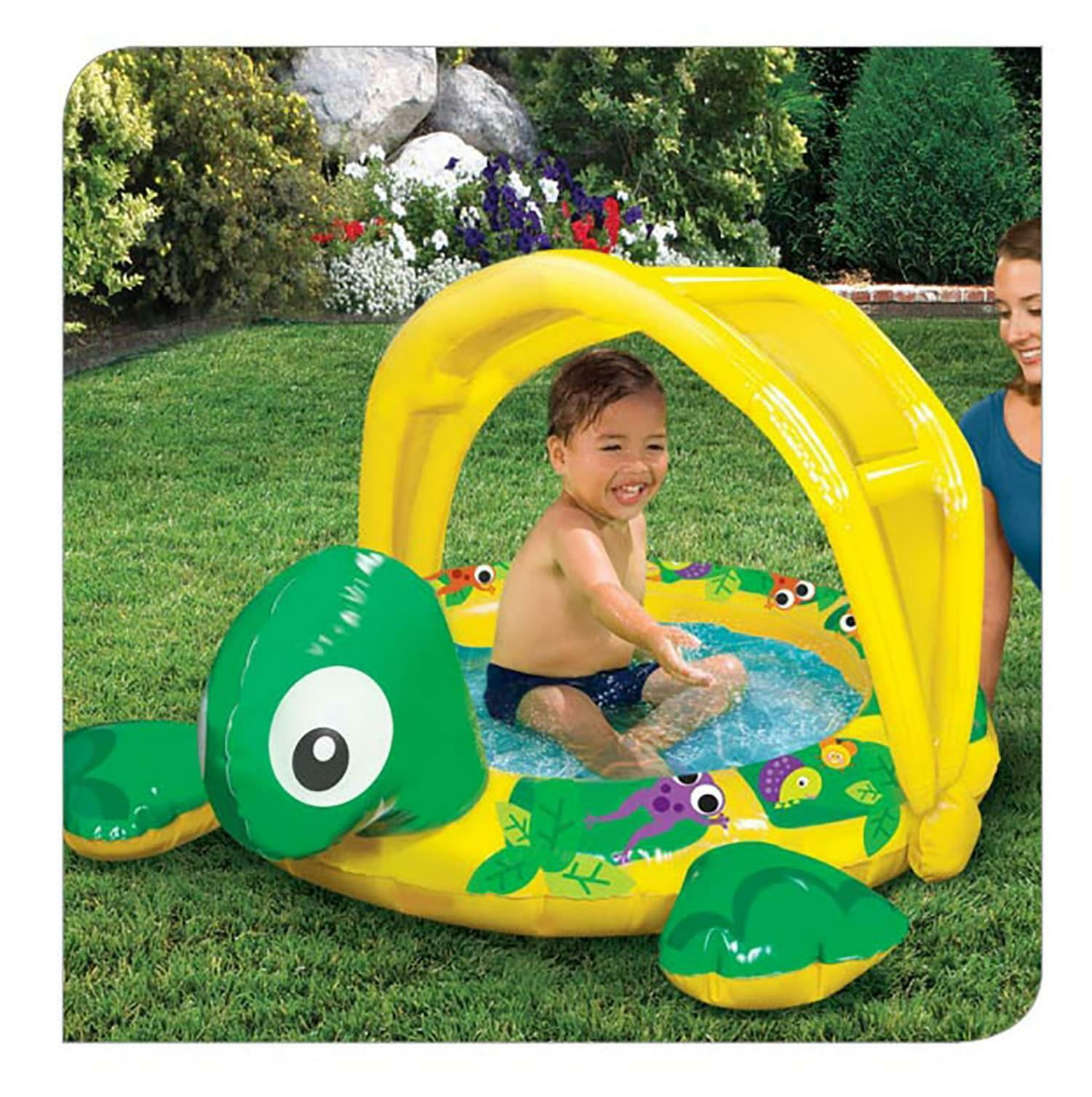 Shady Time Turtle Inflatable Pool