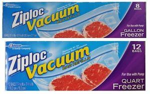 Ziploc Vacuum Bag Refills For Use With Pump Quart Or
