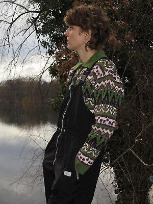 Adattabile Cdc Lana Lavorazione A Maglia Pullover Maglia Sci Collo 60s True Vintage Sweater Lana-mostra Il Titolo Originale
