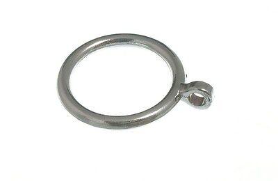 100 X Bacchetta Per Tenda Cafe Anelli Di Metallo 28mm Matt Chrome-