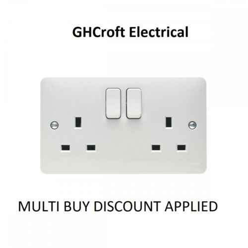 HAGER sollsyta 13 A 2 Gang Double Pôle double terre Switched Socket-Multi Acheter