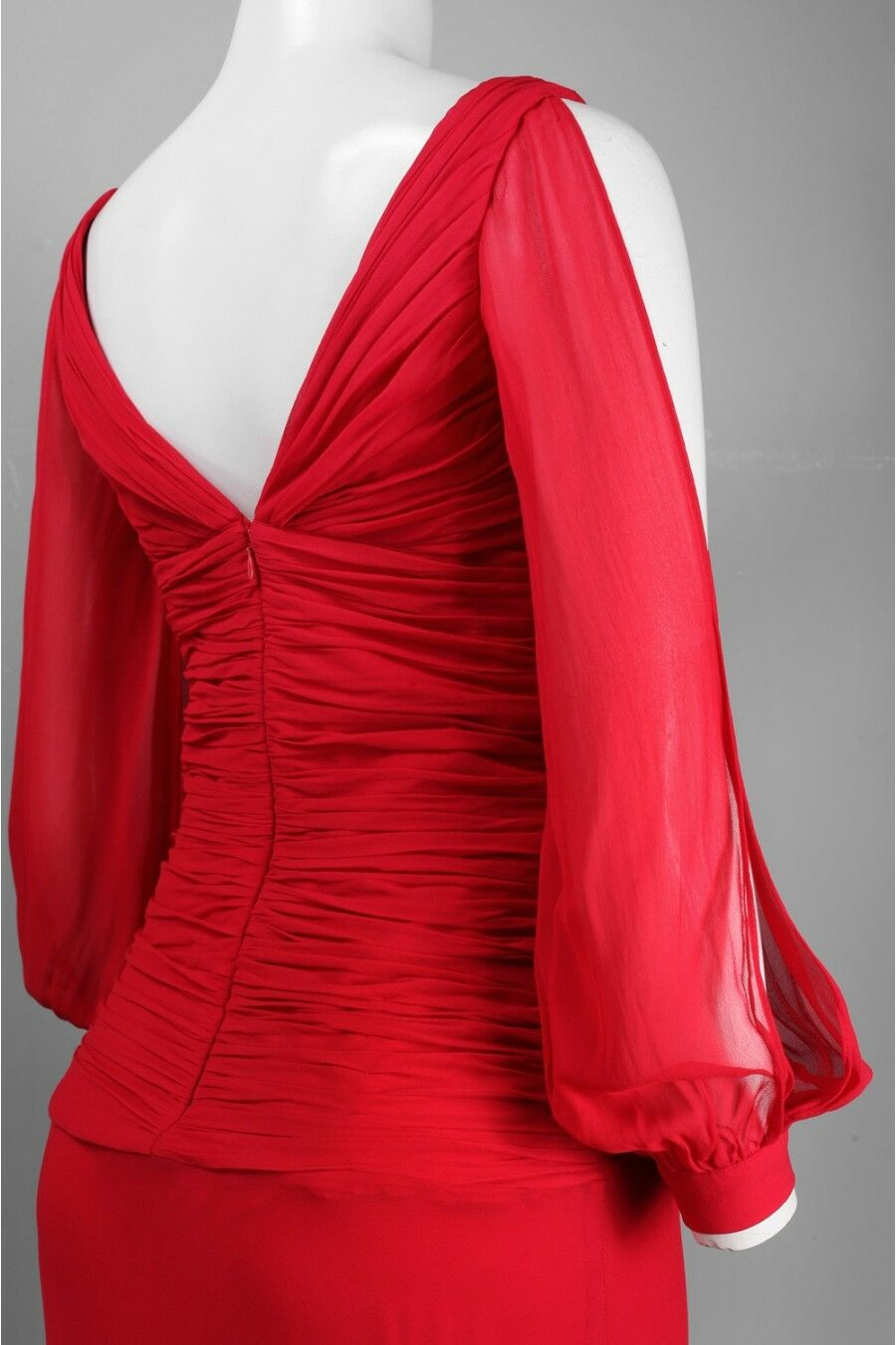 Nina Nina Nina Austin Size XS Women's Puff Slit Sleeve Red Dress Gown NWT NEW 0d98cf