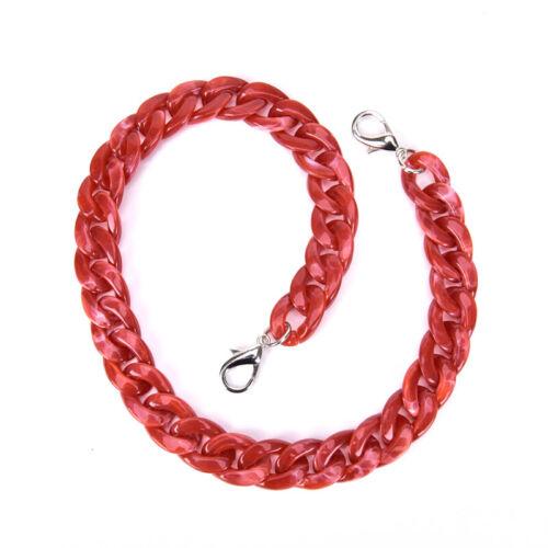120cm Acrylic Detachable Replacement Chain Shoulder Bag Strap Handbag AccessoWR
