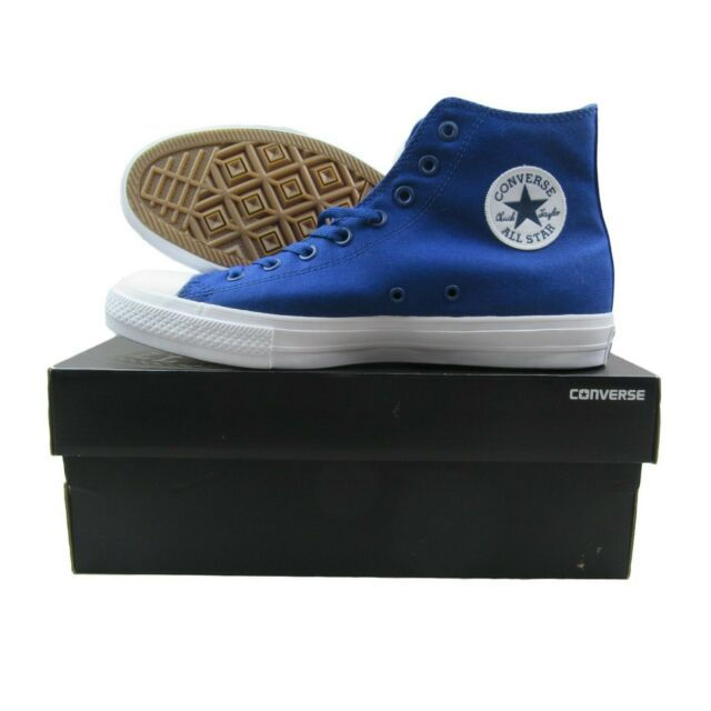 d8eb48bd5d9493 Converse Chuck Taylor All Star II Lunarlon Blue White Shoes 150146C Mens  Size