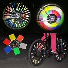 48 x Mix Colours BIKE BICYCLE CYCLING SPOKE WHEEL REFLECTOR STOCKING FILLER