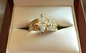 2-00-Ct-Marquise-Cut-Diamond-Solitaire-Engagement-Ring-14K-Yellow-Gold-Finish