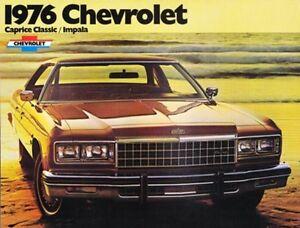 1976 76 Chevrolet Impala & Caprice Clic Brochure | eBay