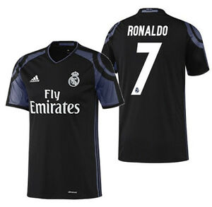 more photos d1cf2 fdd87 Details about ADIDAS CRISTIANO RONALDO REAL MADRID THIRD JERSEY 2016/17