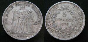 FRANCIA-5-FRANCS-DE-1875-A-PARIS-PLATA