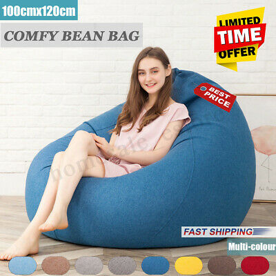 Amazing Extra Large Bean Bag Chair Sofa Cover Indoor Outdoor Game Seat Beanbag Adult Ebay Machost Co Dining Chair Design Ideas Machostcouk