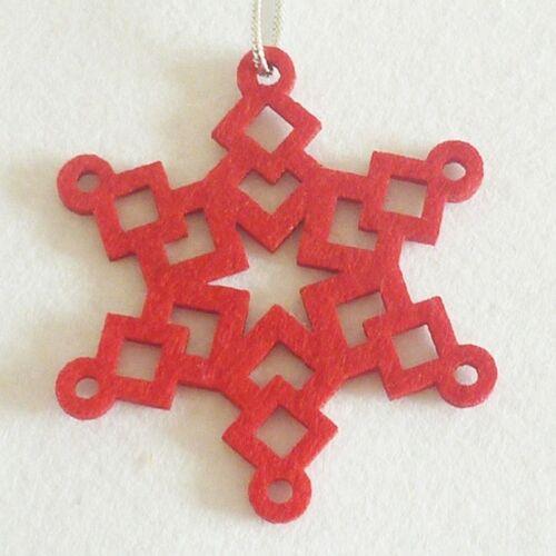 10pc Christmas Felt Snowflake Hanging Ornaments for Christmas Tree Pendant 8x8cm