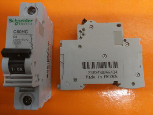 SCHNEIDER C60HC C6 240//415V Disjoncteur Standard Fit 6 Amp TYPE C