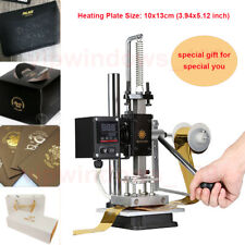 1013cm Digital Hot Foil Stamping Machine Leather Press Logo Printing Bronzing
