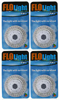 4) Led Swimming Above Inground Pool Flo Lights Wireless Universal Return 4 Pack on sale