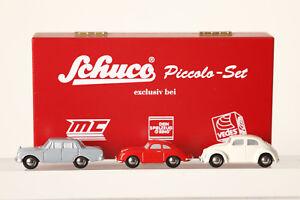 Schuco Piccolo 3er-set Voir Mb 220s Grand Porsche 356 Ro Vw Coccinelle Beige