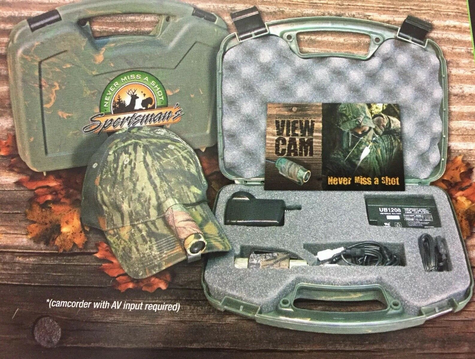 The Hunt Cam Hands Free color Camera Hunting Waterproof Sportsman's View Cam