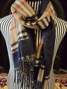 Large-Winter-Check-Tartan-Plaid-Fashion-Scarf-Pashmina-Shawl-Wrap-Double-sided