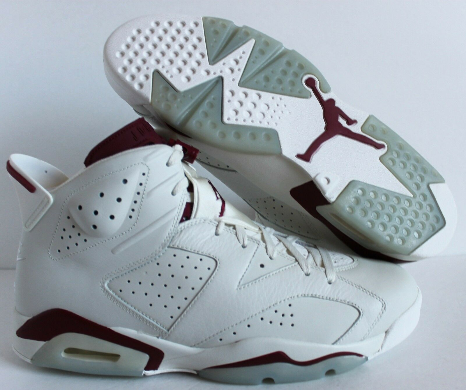 Nike Air Jordan 6 retro Off SZ White-New Maroon SZ Off 17 [384664-116] 99c198