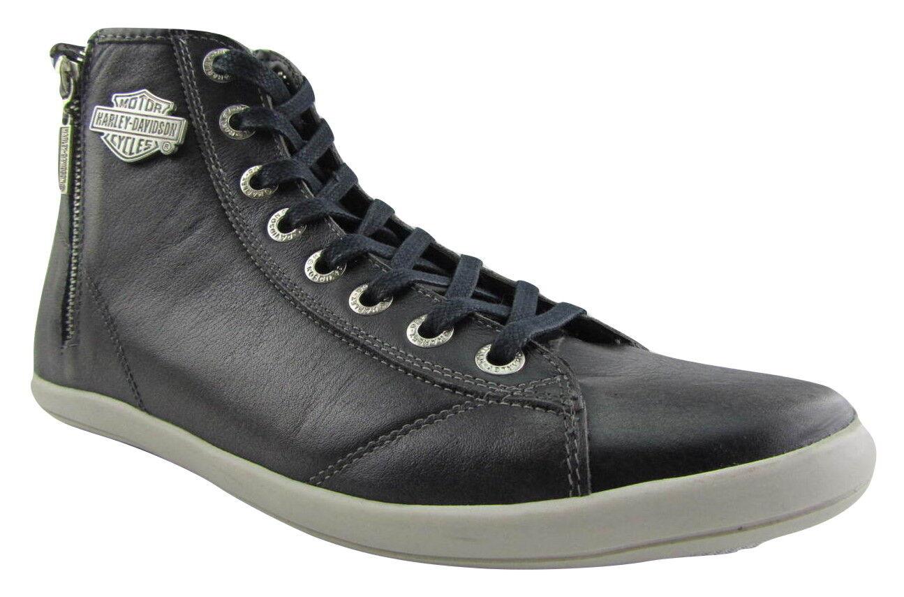 Harley Davidson Oberlin Slate Leather Biker Men shoes High Top Sneaker Zip