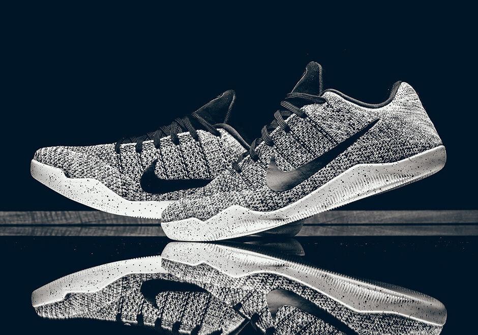 Nike Kobe 11 XI Elite Grey Low Oreo Grey Elite White Size 14. 822675-100 Jordan Beethoven 794fd4