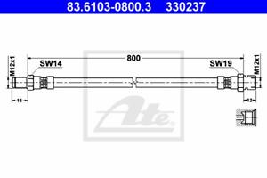 ATE 83.6103-0800.3 Bremsschlauch