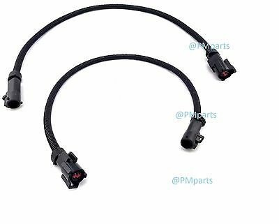 Mustang O2 Oxygen Sensor Extension Wire Harness Pair 1986-2010 Fox Body GT 5.0