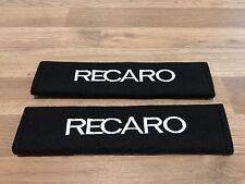 1Pair Car Seat Belt Cover Pads GiftLogoSticker Recaro Seat Motorsport Race Rally