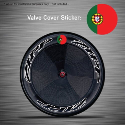 Zipp Hed Corima FFWD VCS044-6x Portugal Flag Disc Wheel Valve Covers//Patches