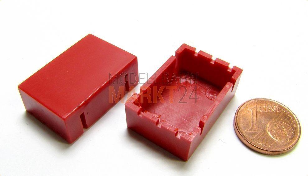 10 x ALBEDO Ersatzteil Unterfahrschutz-Kasten dunkelred lang H0 1 87 - 0159