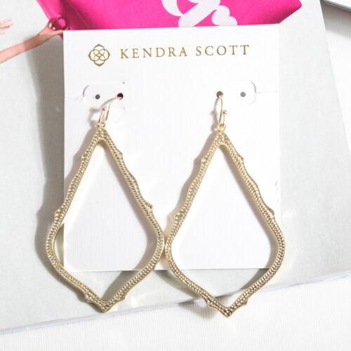 $55 Kendra Scott Sophee Gold Drop Earrings in Gold NEW
