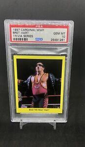 1997-CARDINAL-BRET-THE-HITMAN-HART-PSA-10-POP-1-Rare-WWE-WWF
