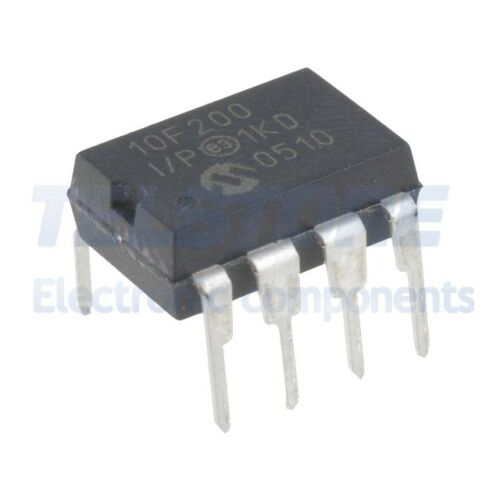 3pcs PIC10F200-I//P Microcontrollore PIC SRAM 16B 4MHz THT DIP8 MICROCHIP