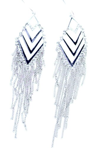 12cm de plata estilo egipcio pendientes borla de color de la lámpara