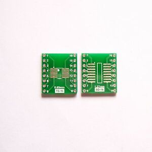 SOP16 SO16 TSSOP16 MSOP16 to DIP16 PCB Pitch 2.54mm Converter Board Adapter