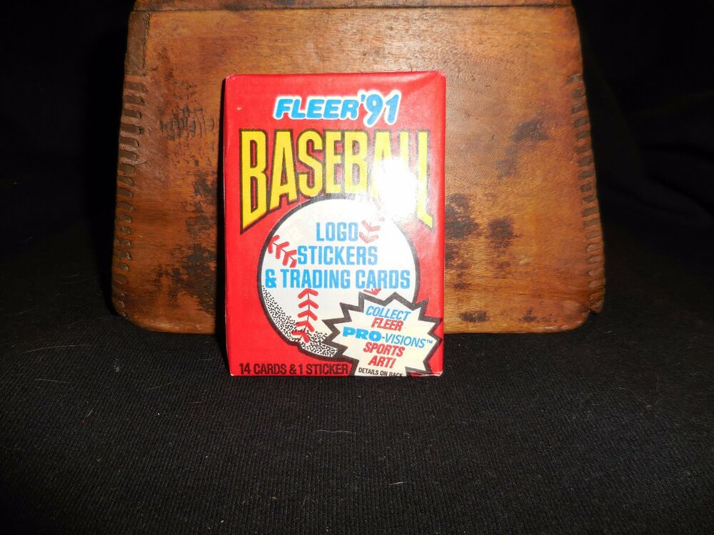 Unopened Pack of 1991 Fleer Baseball Cards Wax Pack