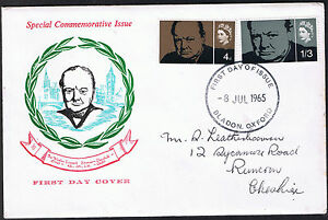 Sir Winston Churchill First Day Cover 8th July 1965  Stamps SG661 amp SG662 - Belper, United Kingdom - Sir Winston Churchill First Day Cover 8th July 1965  Stamps SG661 amp SG662 - Belper, United Kingdom