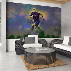 Tapete Vlies Fototapete Design Grafik Sport Leo Messi Fussball Fc